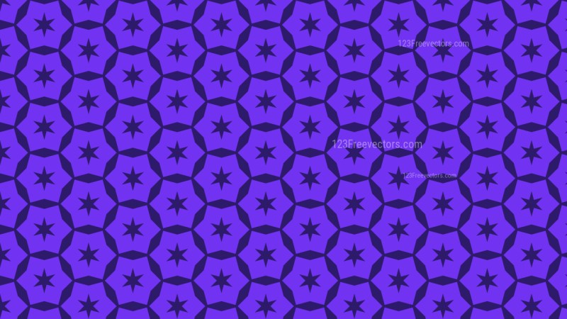 Violet Seamless Star Pattern Background