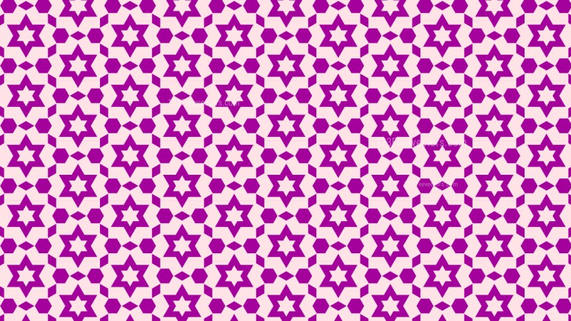 Purple Star Pattern Vector Graphic