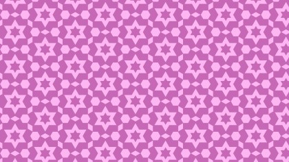 Lilac Seamless Star Pattern Vector Illustration