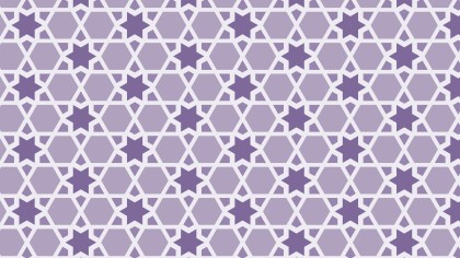 Purple Seamless Star Background Pattern Vector Art