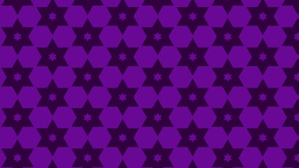 Purple Seamless Stars Pattern Background Vector Graphic
