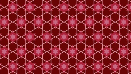Dark Red Seamless Star Pattern