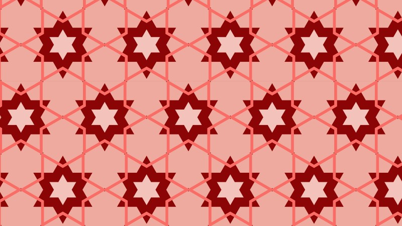 Red Stars Background Pattern