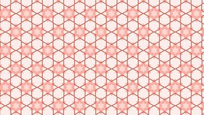 Light Red Seamless Stars Background Pattern
