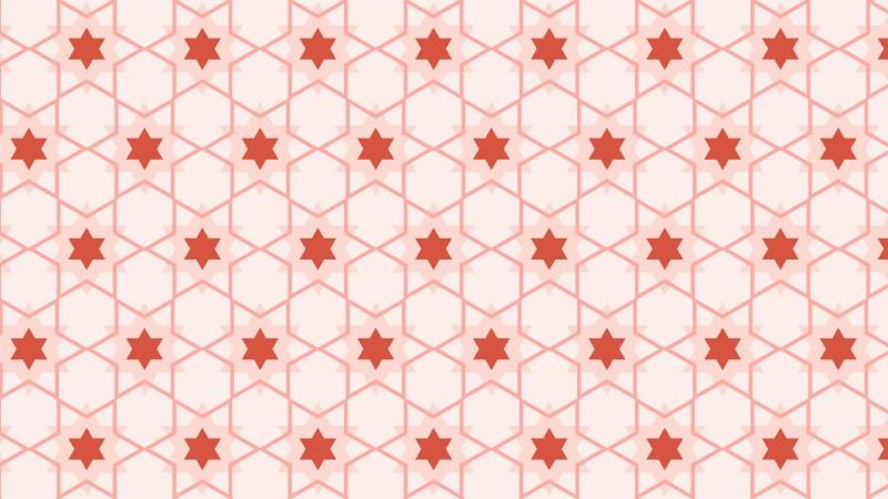 Light Red Star Pattern Vector