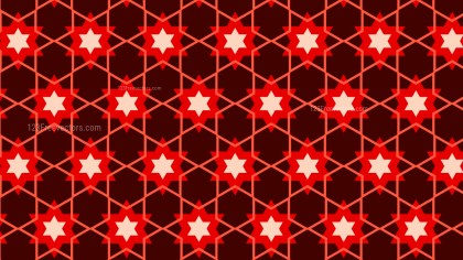 Dark Red Star Background Pattern Graphic