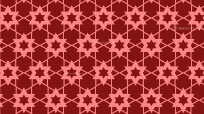 Red Stars Pattern Vector Graphic