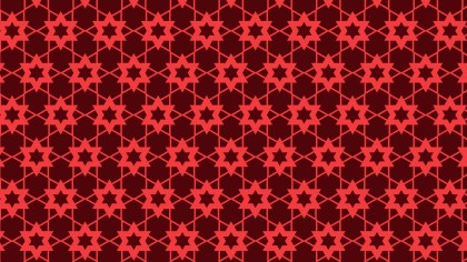 Dark Red Stars Background Pattern Illustrator