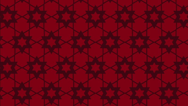 Dark Red Seamless Stars Pattern Vector Illustration