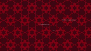 Dark Red Seamless Stars Pattern Background Vector