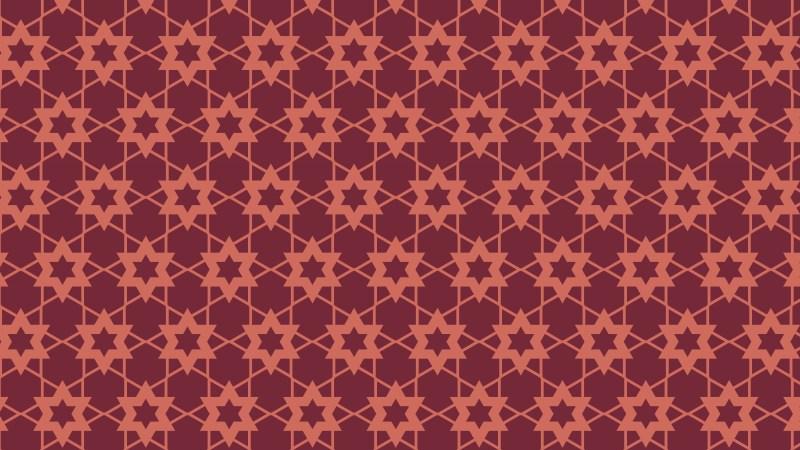 Dark Red Star Pattern