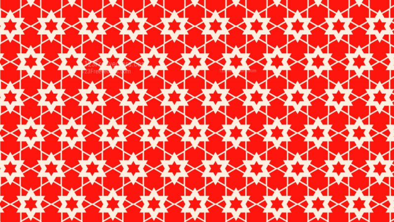 Red Star Background Pattern