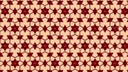 Red Star Background Pattern Vector Graphic