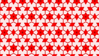 Red Seamless Star Background Pattern Vector Illustration