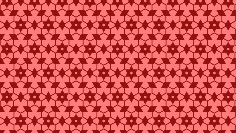 Red Stars Background Pattern Graphic