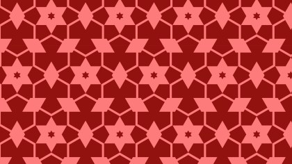 Red Seamless Stars Pattern Illustration