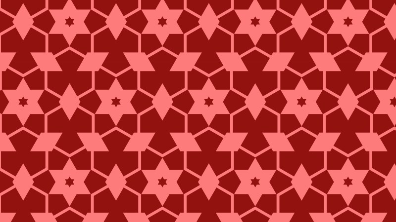 Red Seamless Stars Pattern Illustration