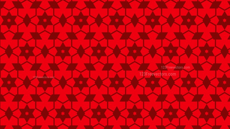 Red Seamless Stars Pattern Background Design