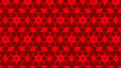 Red Seamless Stars Background Pattern Image