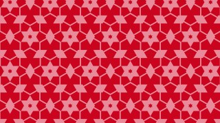 Red Star Pattern Background