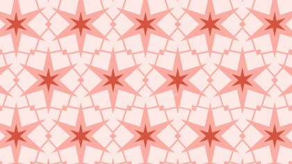 Light Red Seamless Stars Pattern Background