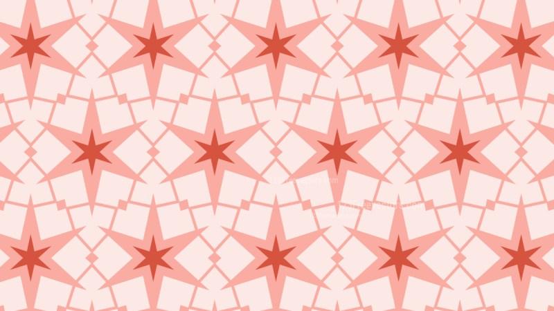 Light Red Seamless Stars Pattern Background