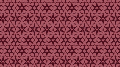 Dark Red Seamless Stars Background Pattern