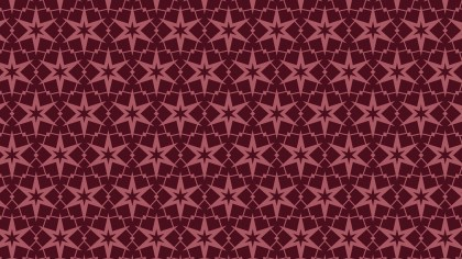 Dark Red Star Pattern Illustrator