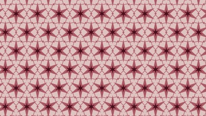 Red Star Pattern Background Vector Illustration