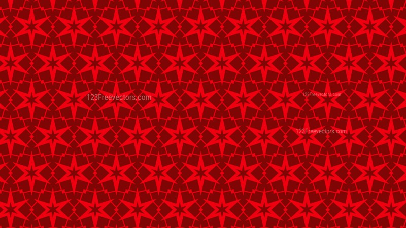 Red Star Background Pattern Vector