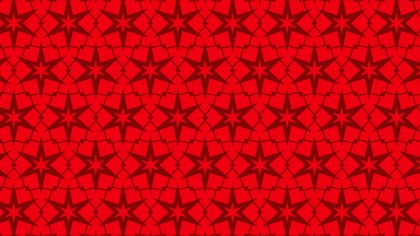 Red Seamless Star Pattern Vector Art