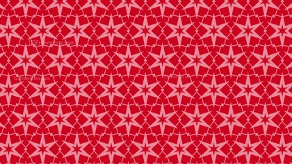 Red Seamless Stars Pattern Background Illustrator