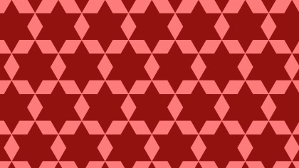 Red Seamless Star Pattern Background