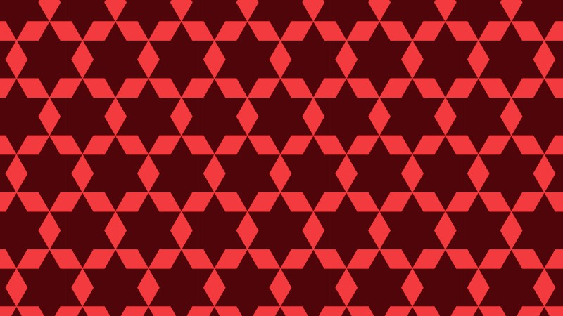 Dark Red Stars Background Pattern