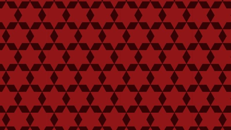 Dark Red Seamless Stars Pattern