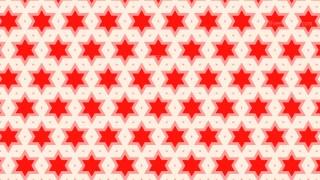 Red Star Background Pattern Design
