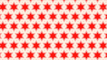 Red Star Background Pattern Design