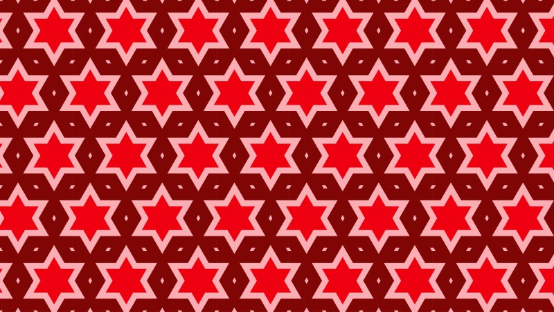 Red Seamless Star Pattern Image