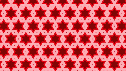 Red Seamless Star Pattern Background Vector Graphic