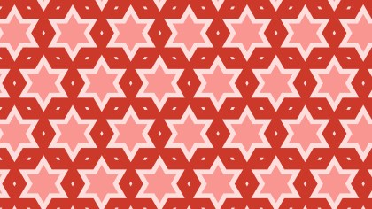 Red Seamless Star Background Pattern Vector Image