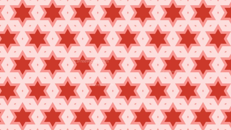 Red Stars Pattern Illustrator