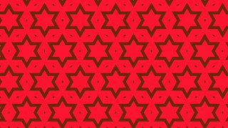 Red Stars Background Pattern Vector
