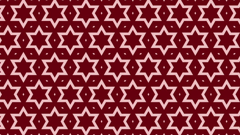 Dark Red Seamless Stars Background Pattern Illustration