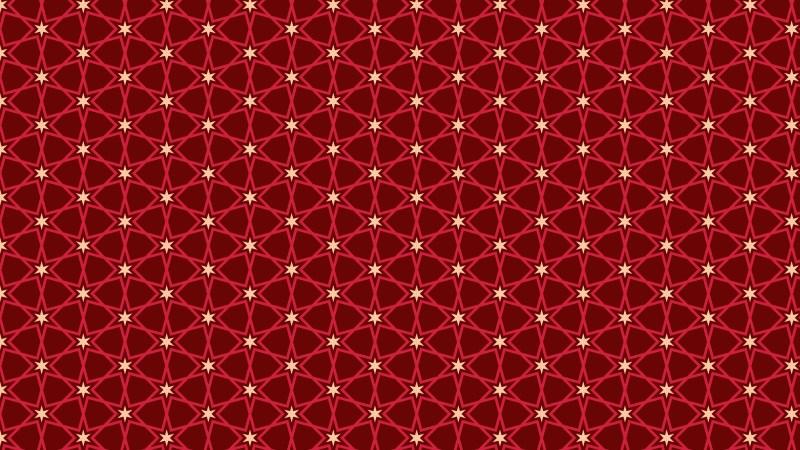Dark Red Seamless Star Pattern Background