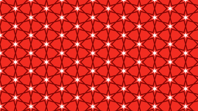 Red Star Pattern Vector Graphic