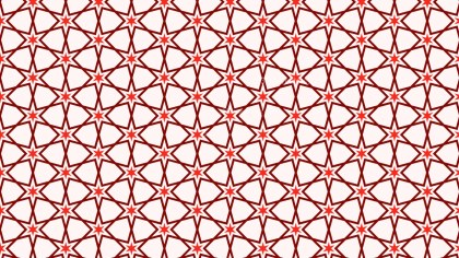Red Star Background Pattern Illustrator