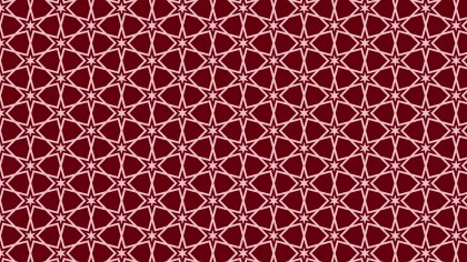 Dark Red Seamless Star Pattern Background Vector