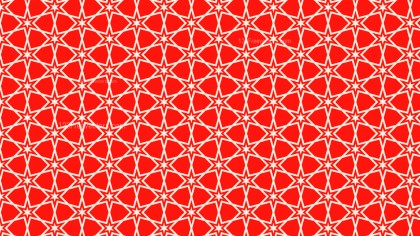 Red Seamless Stars Pattern Background Vector Graphic