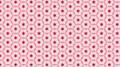 Red Star Background Pattern