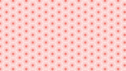 Light Red Seamless Star Pattern